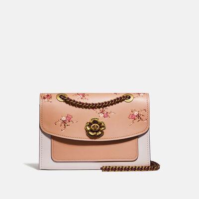 Bolsa-de-hombro-Parker-de-cuero-estampado-Floral-Print