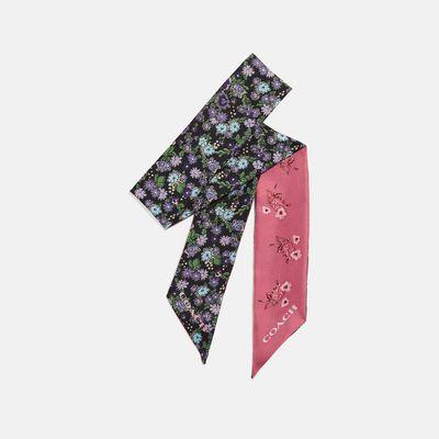 Mascada-delgada-Floral-Bow