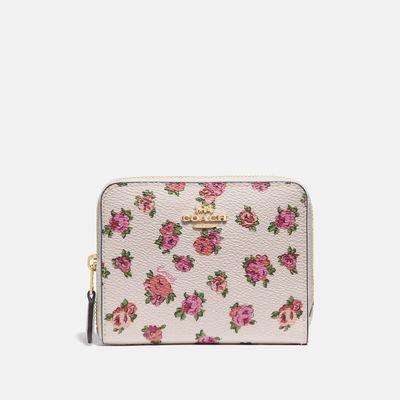 Cartera-pequeña-con-cierre-estampado-Mini-Vintage-Rose