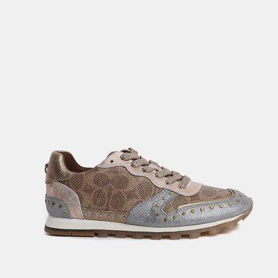 Tenis-Sneakers-C118-de-Coated-Canvas-con-detalles-en-Glitter