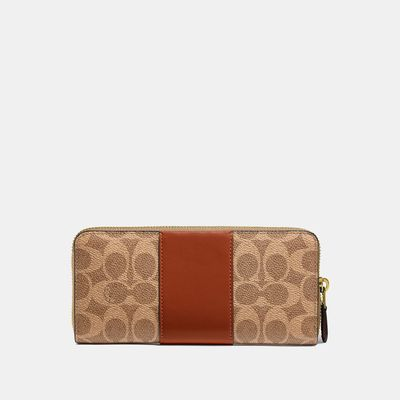 Cartera-con-cierre-delgada-en-Coated-Canvas-Colorblock---Coach