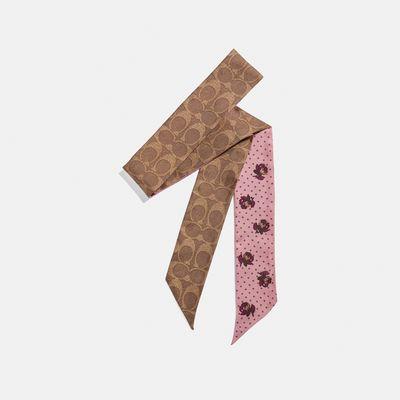 Mascada-delgada-Spaced-Floral-Signature-Coach