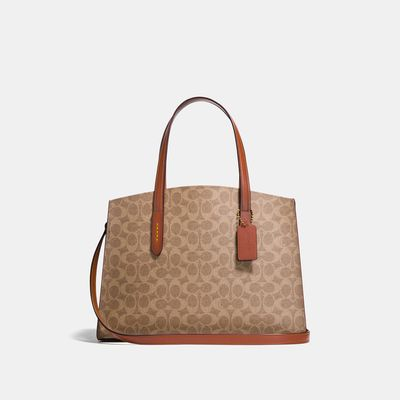 Bolsa-de-mano-Charlie-de-Coated-Canvas-Coach