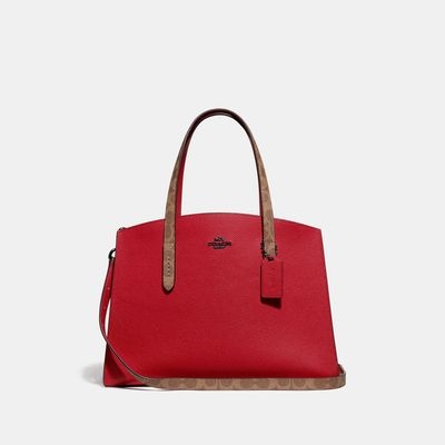 Bolsa-de-mano-Charlie-en-Coated-Canvas-Coach
