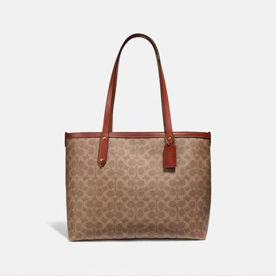 Bolsa-Tote-con-cierre-de-Coated-Canvas-Coach