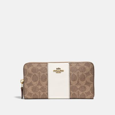 Cartera-grande-con-cierre-de-Coated-Canvas-Coach