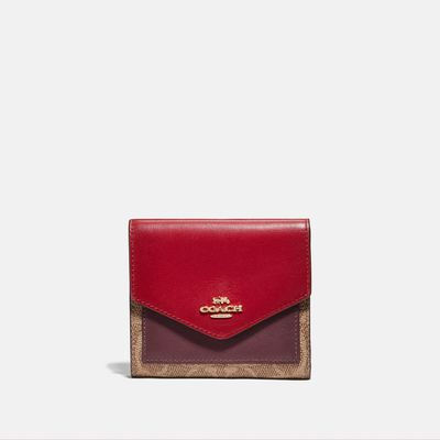 Cartera-pequeña-en-Coated-Canvas-Colorblock-Coach