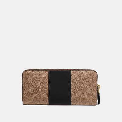 Cartera-con-cierre-delgada-en-Coated-Canvas-Colorblock-Coach