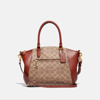 Bolsa-Satchel-Elise-de-Coated-Canvas-Coach