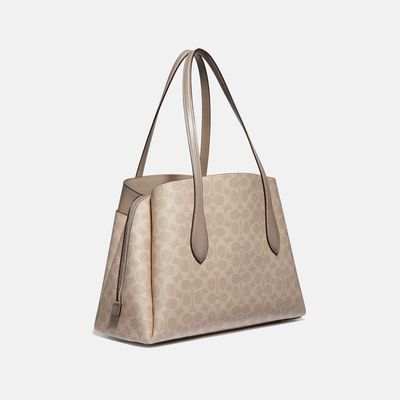 Bolsa-de-mano-Lora-de-Coated-Canvas-Coach