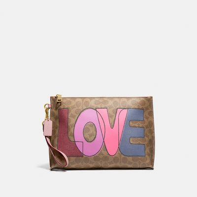 Accesorios-de-viaje-Love-en-Coated-Canvas-Coach