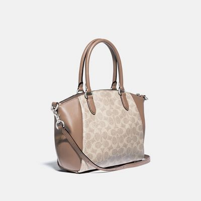Bolsa-Satchel-Elise-Signature-Coated-Canvas-Coach