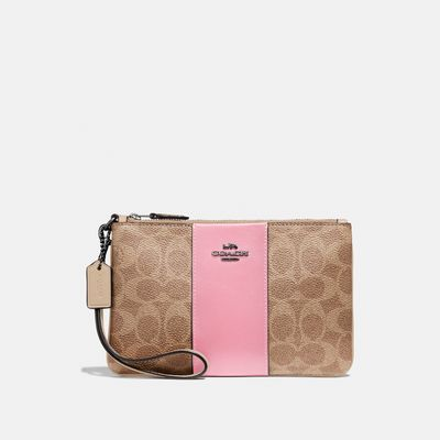 Wristlet-Signature-de-Coated-Canvas-Coach