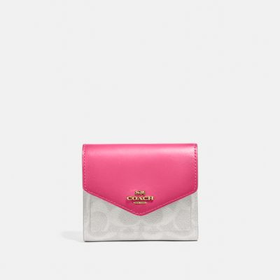 Cartera-pequeña-Colorblock-en-Coated-Canvas-Coach