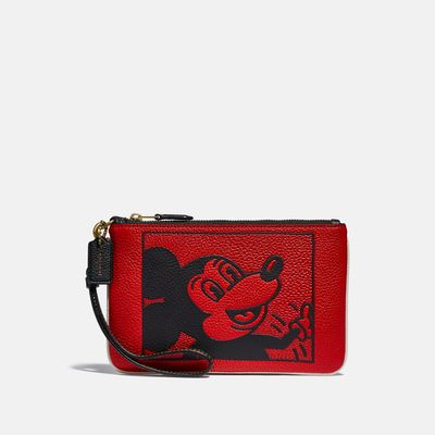 Wristlet-Disney-Mickey-Mouse-X-Keith-Haring-Coach