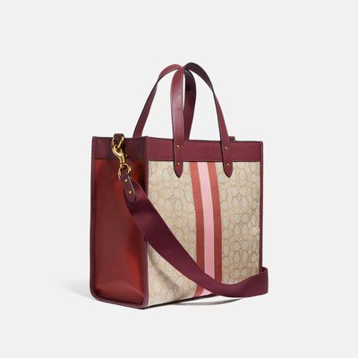 Bolsa-Tote-Field-Horse-and-Carriage-with-College-Stripe-Coach