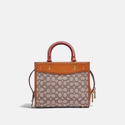Bolsa-Cruzada-Rogue-25-Jacquard-Elephant--Coach